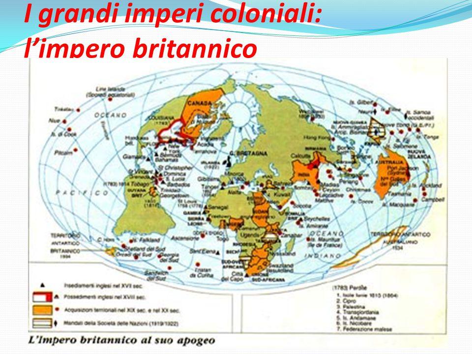 I grandi imperi coloniali: l'impero britannico