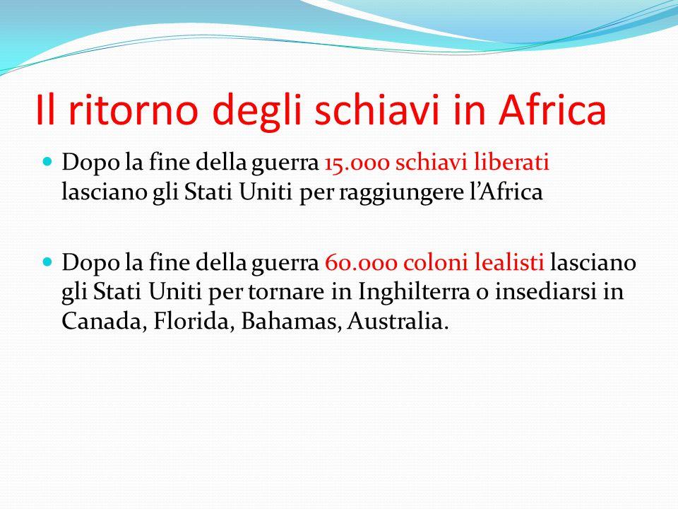 Il ritorno degli schiavi in Africa