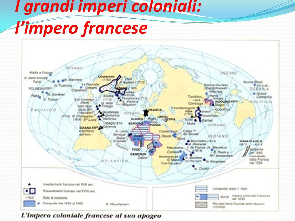 I grandi imperi coloniali: l'impero francese