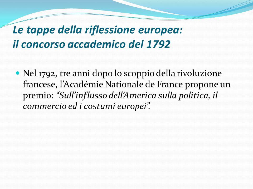 Le tappe della riflessione europea: il concorso accademico del 1792