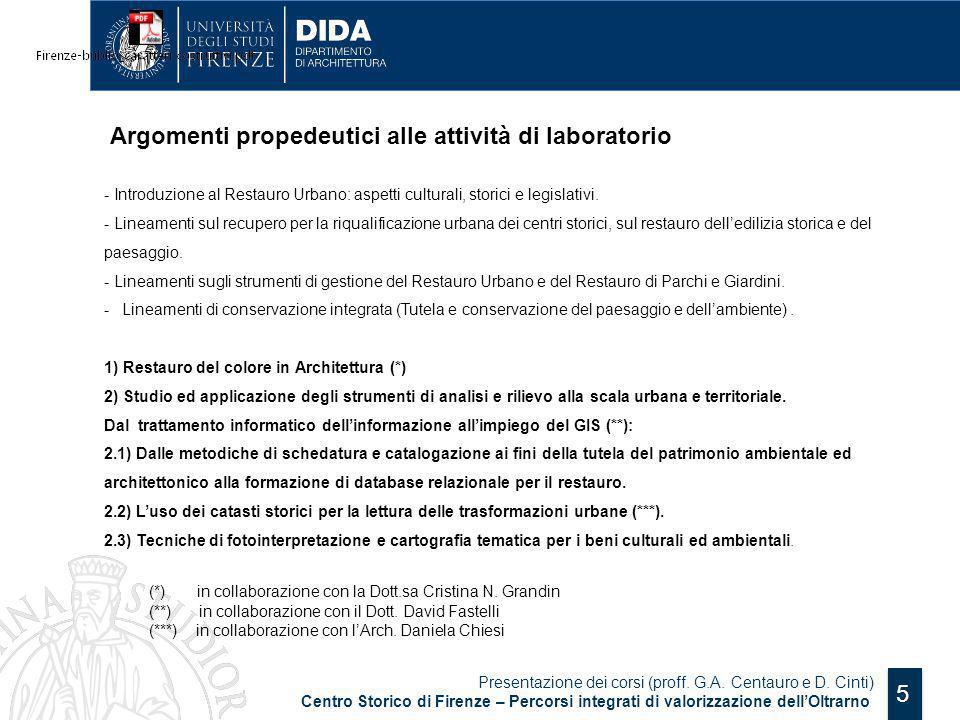 Argomenti propedeutici alle attività di laboratorio