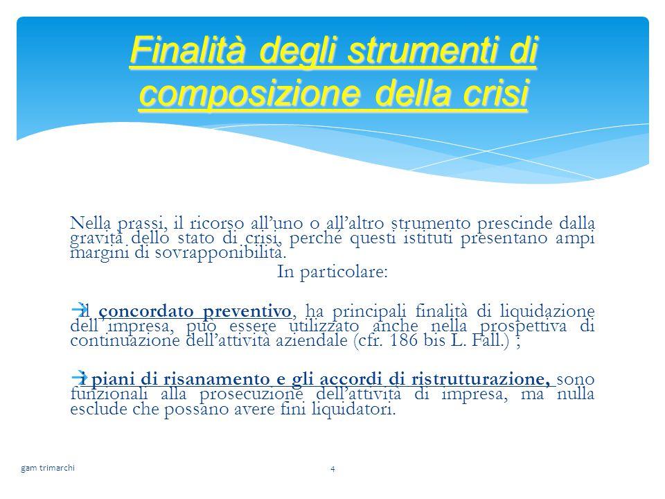 Finalità degli strumenti di composizione della crisi