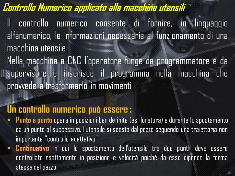 Controllo Numerico applicato alle macchine utensili
