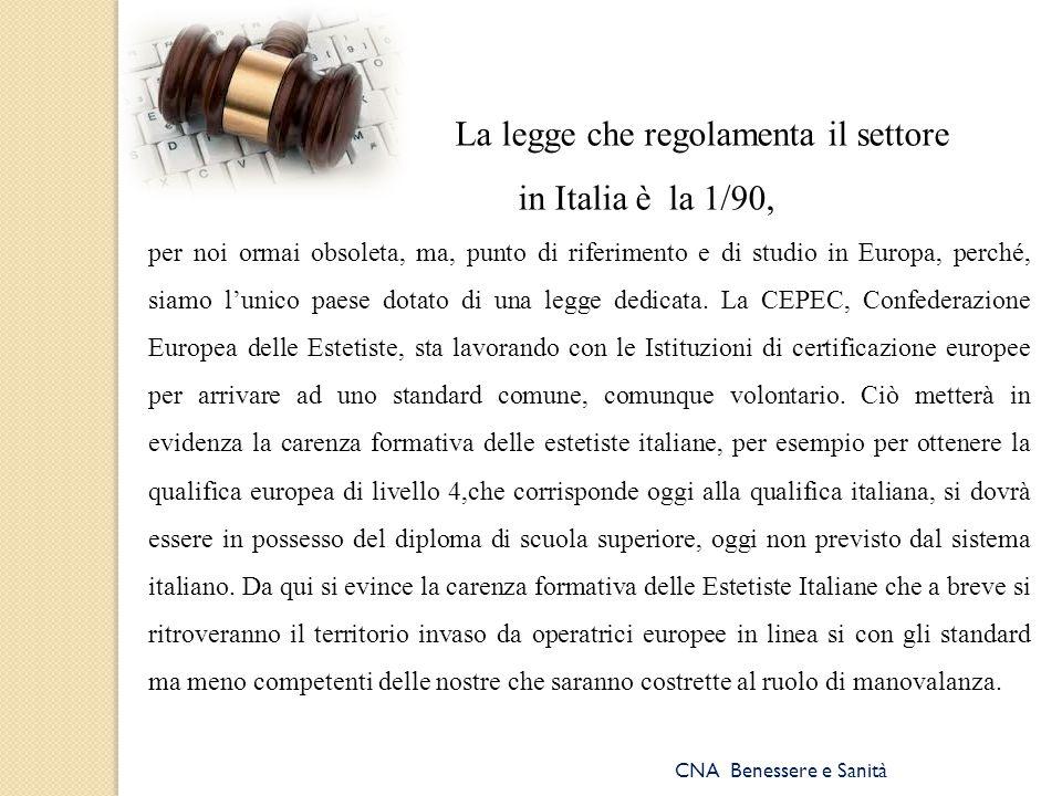 La legge che regolamenta il settore
