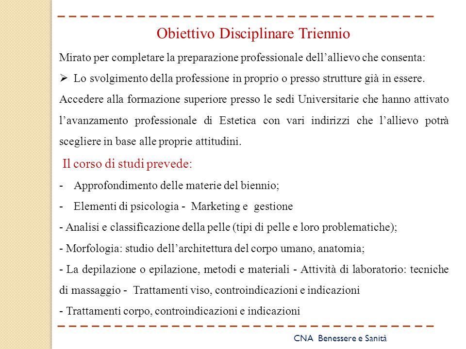 Obiettivo Disciplinare Triennio