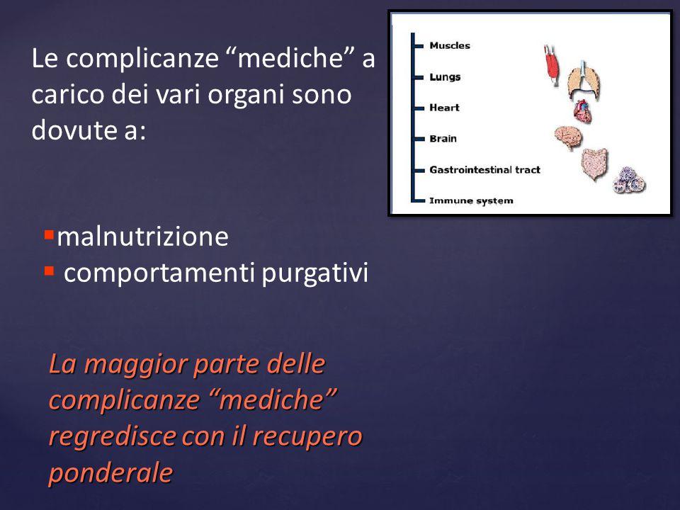 Le complicanze mediche a carico dei vari organi sono dovute a: