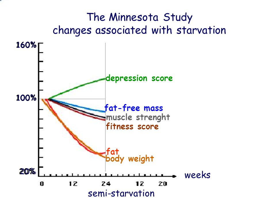 changes associated with starvation