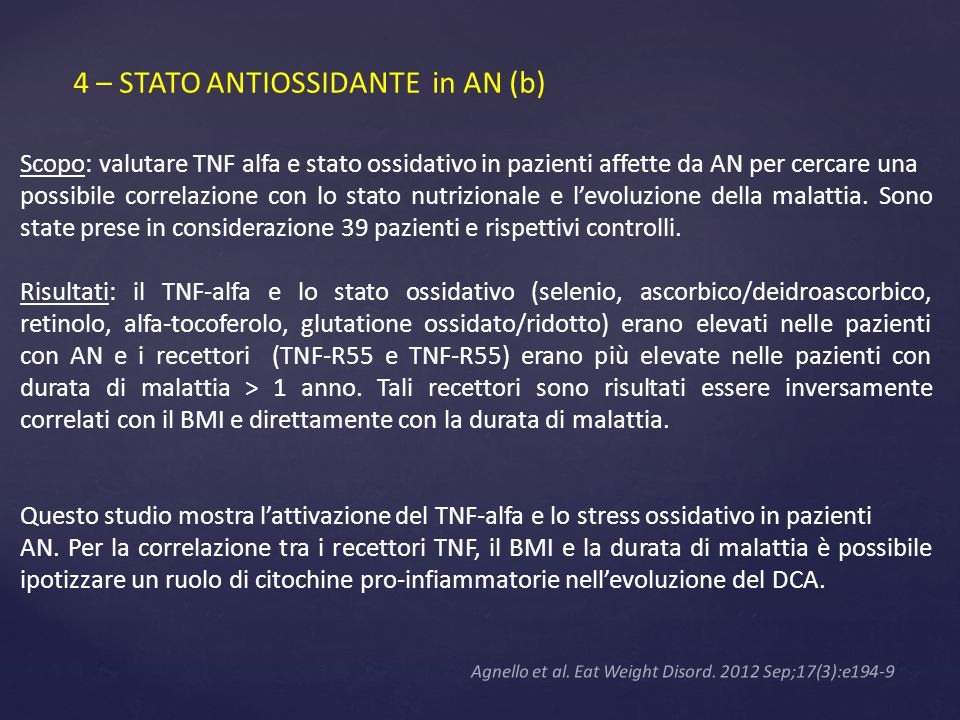 4 – STATO ANTIOSSIDANTE in AN (b)