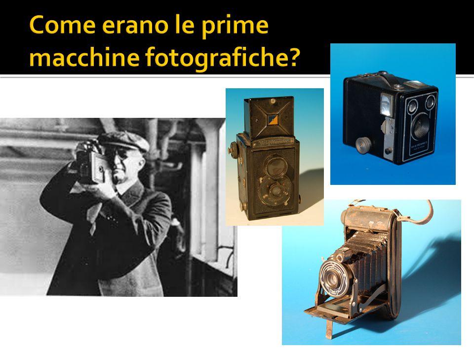 Come erano le prime macchine fotografiche