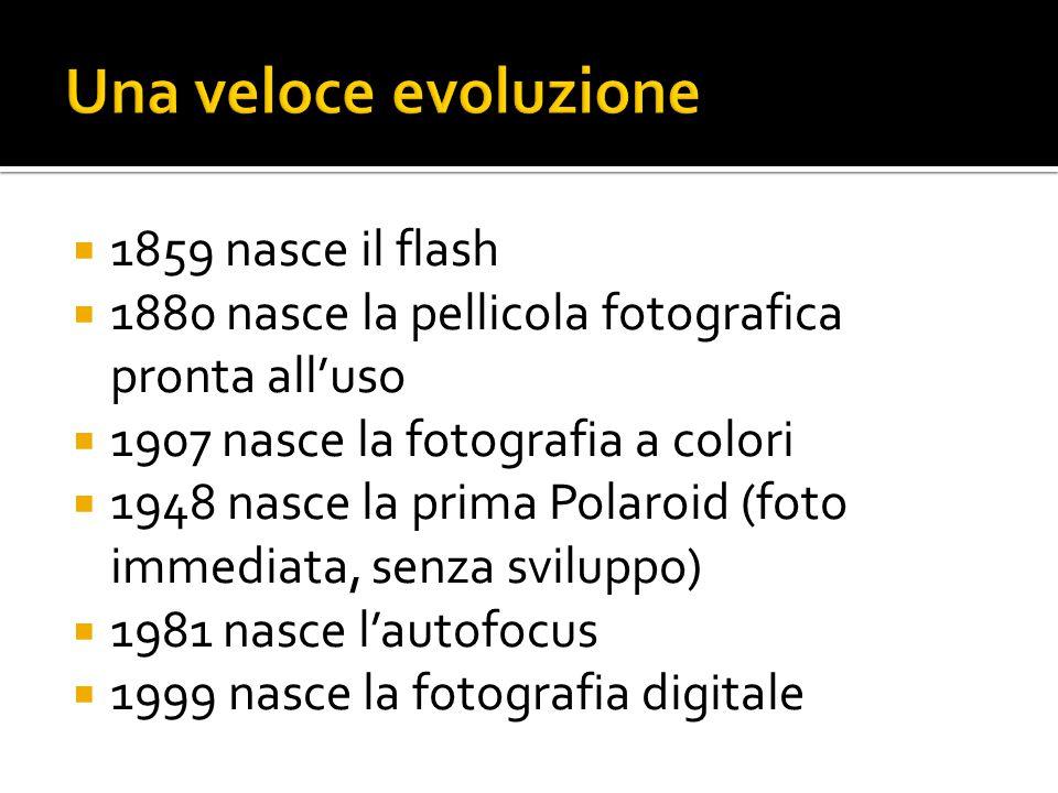 Una veloce evoluzione 1859 nasce il flash