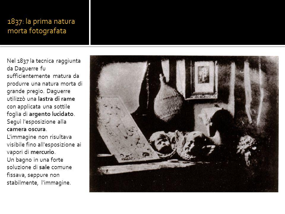 1837: la prima natura morta fotografata