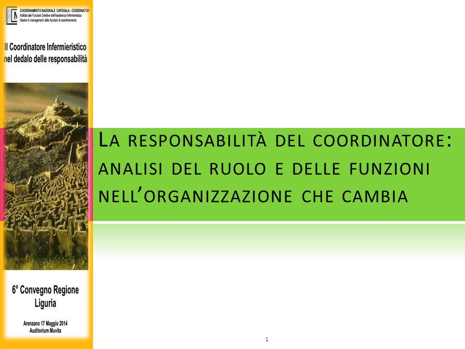La responsabilità del coordinatore: analisi del ruolo e delle funzioni nell'organizzazione che cambia