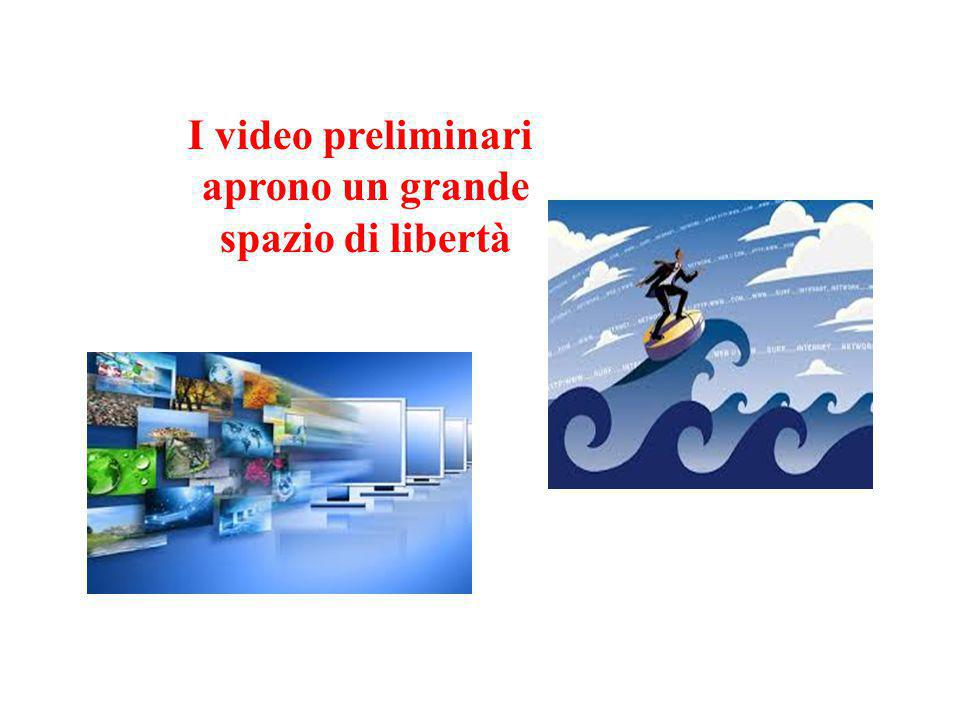 I video preliminari aprono un grande spazio di libertà