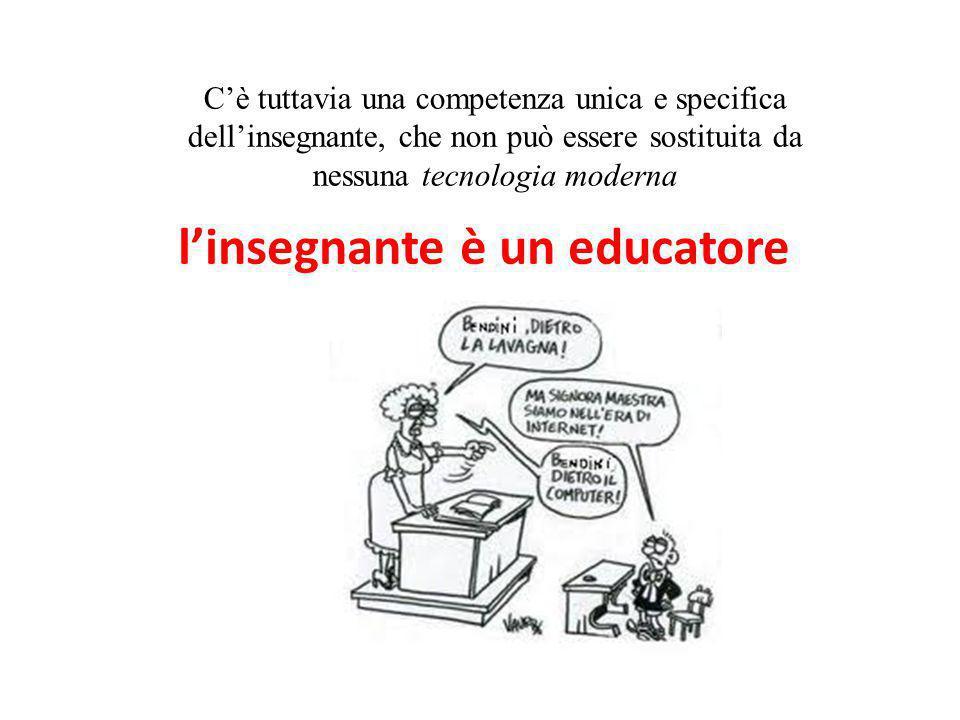 l'insegnante è un educatore