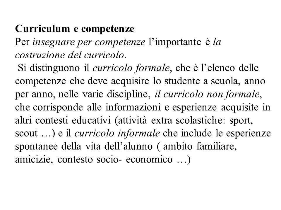 Curriculum e competenze