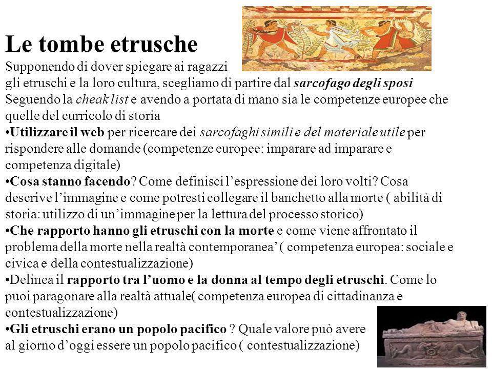 Le tombe etrusche Supponendo di dover spiegare ai ragazzi