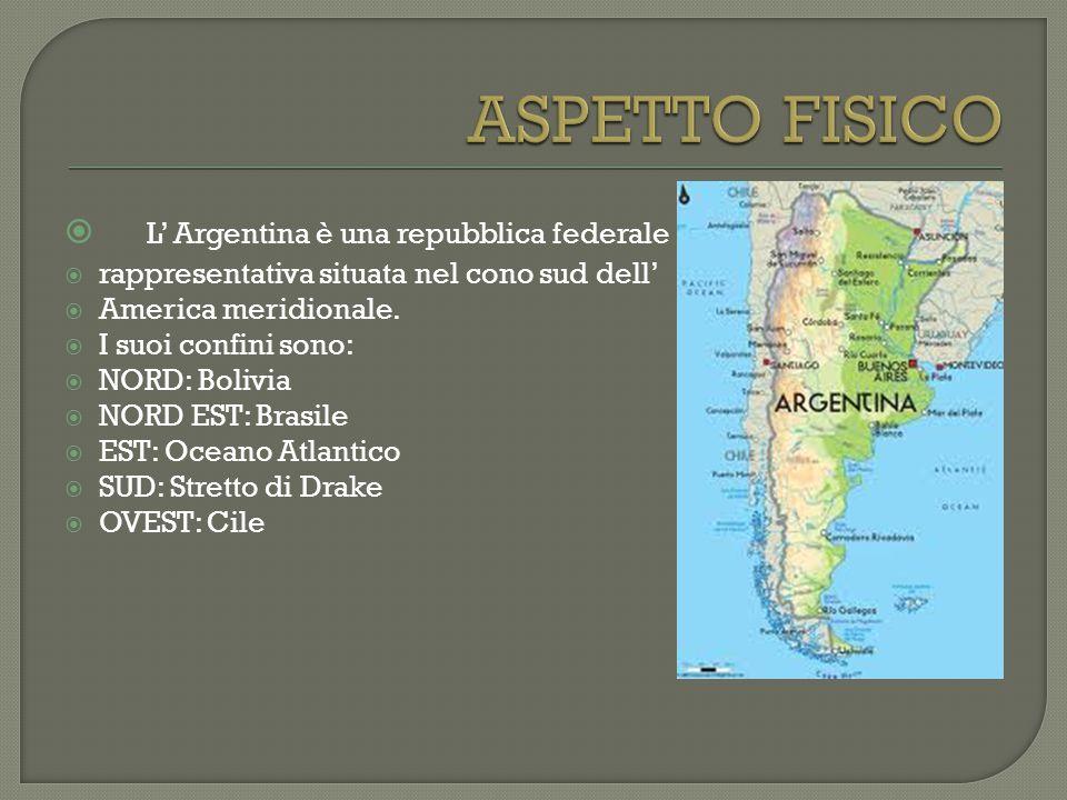 ASPETTO FISICO L' Argentina è una repubblica federale