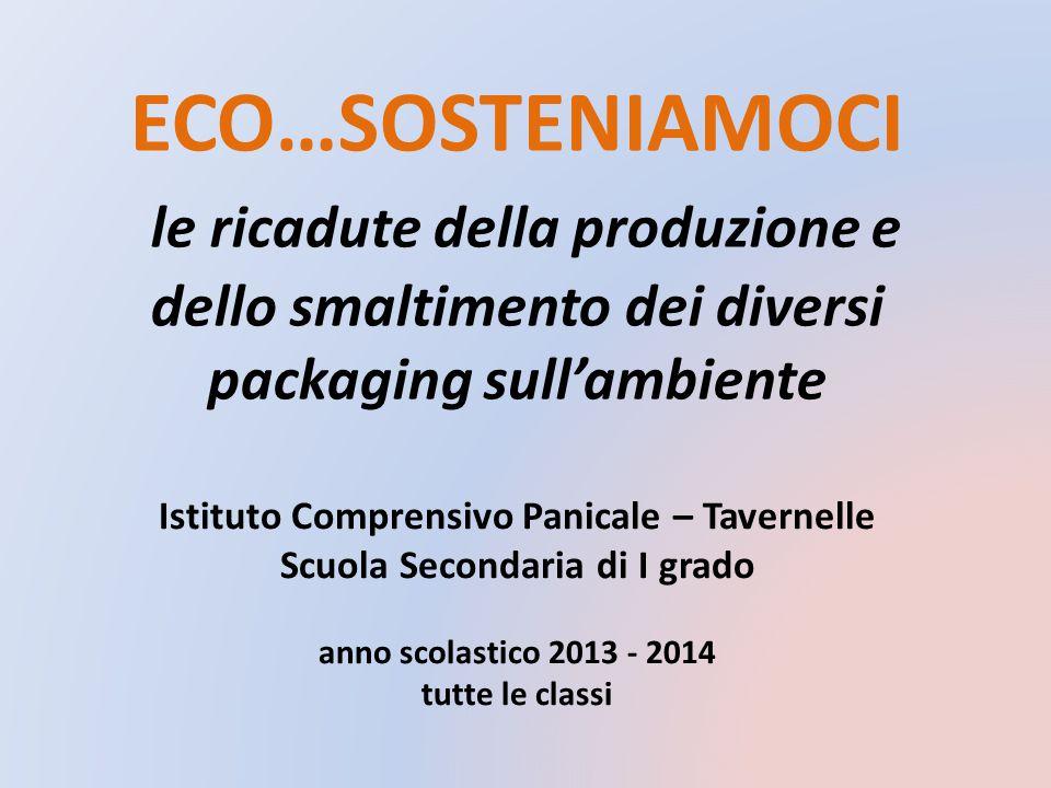 ECO…SOSTENIAMOCI le ricadute della produzione e dello smaltimento dei diversi packaging sull'ambiente.