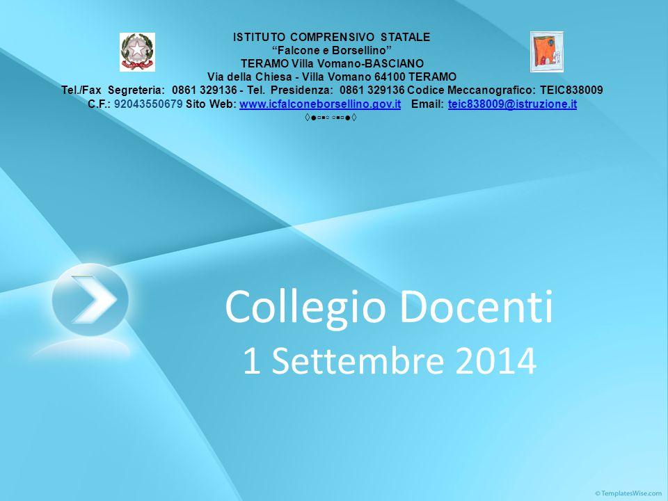 Collegio Docenti 1 Settembre 2014
