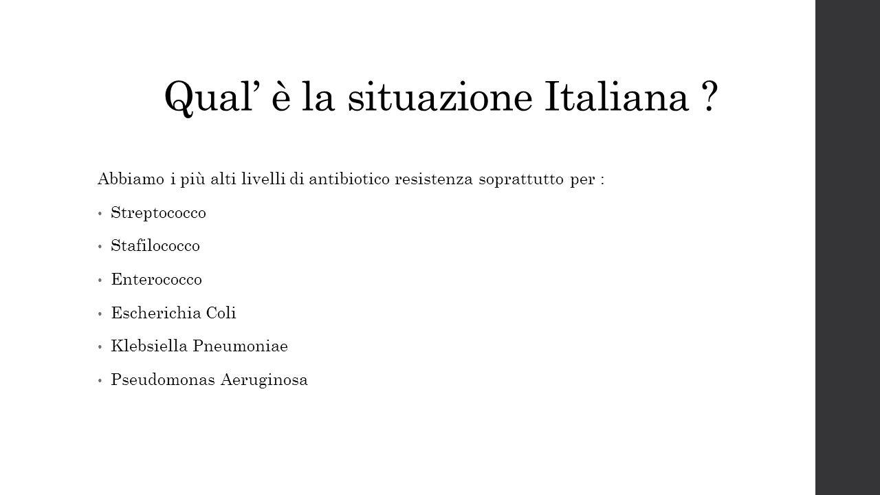 Qual' è la situazione Italiana