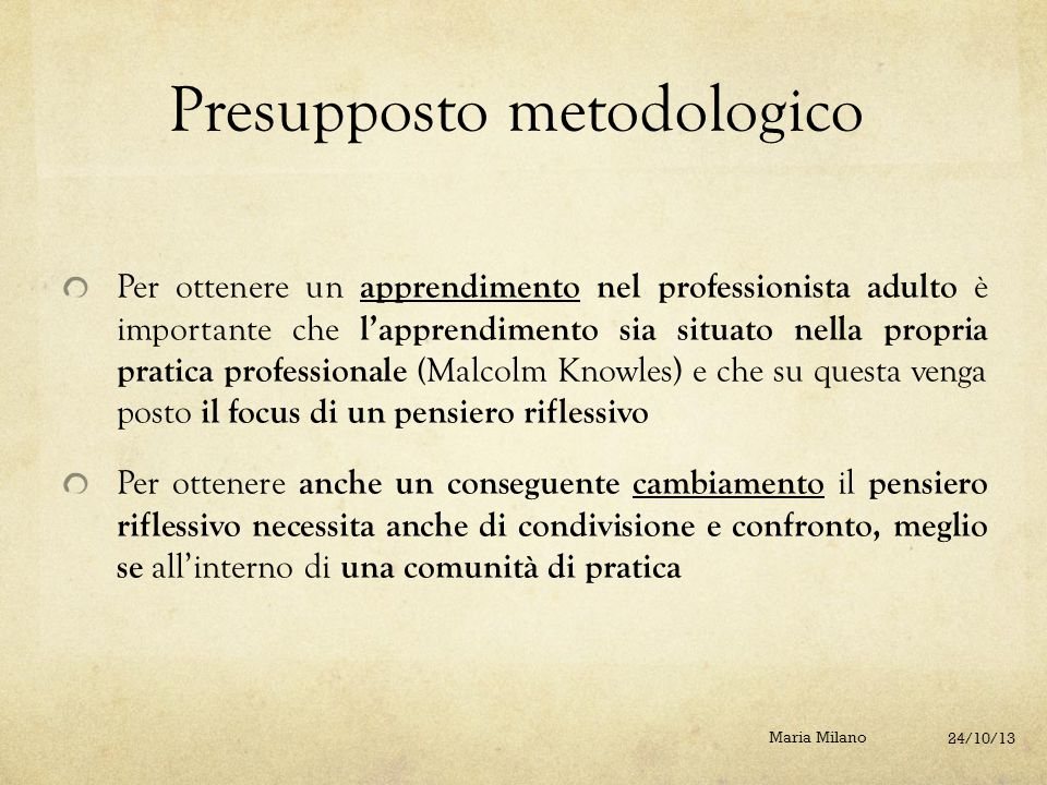 Presupposto metodologico