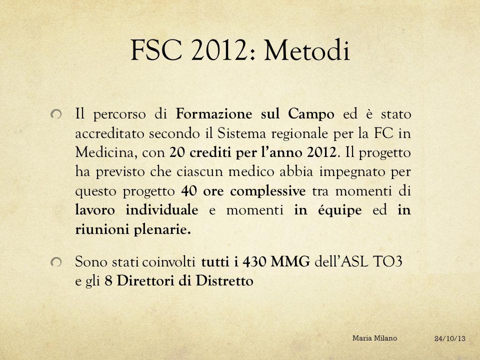 FSC 2012: Metodi