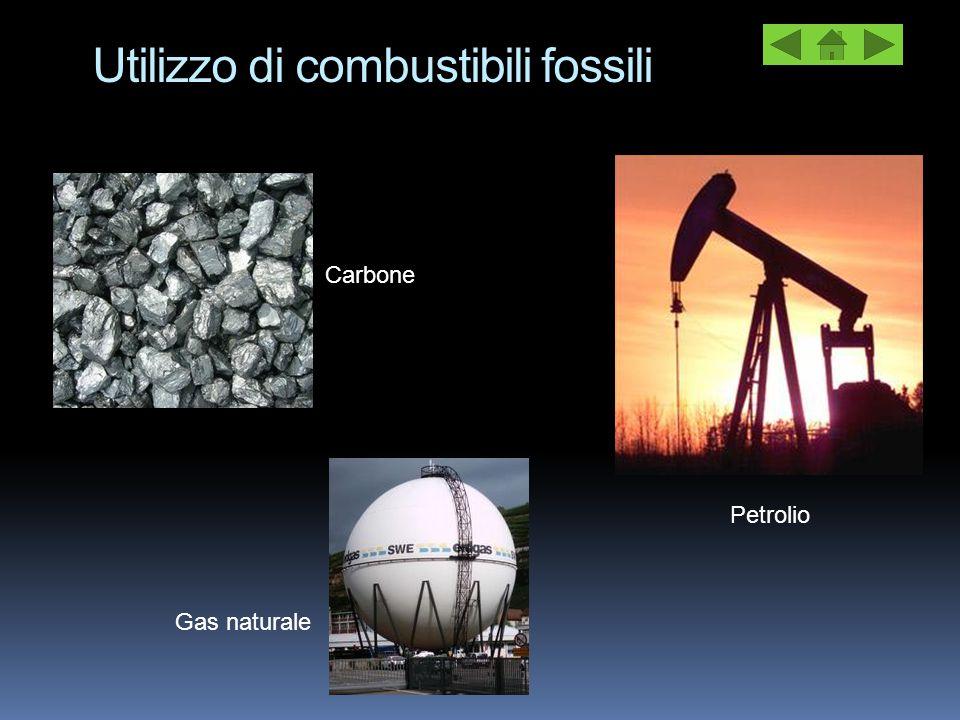 Utilizzo di combustibili fossili