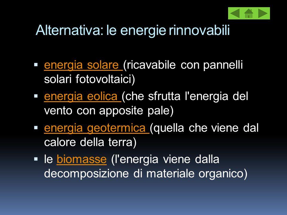 Alternativa: le energie rinnovabili