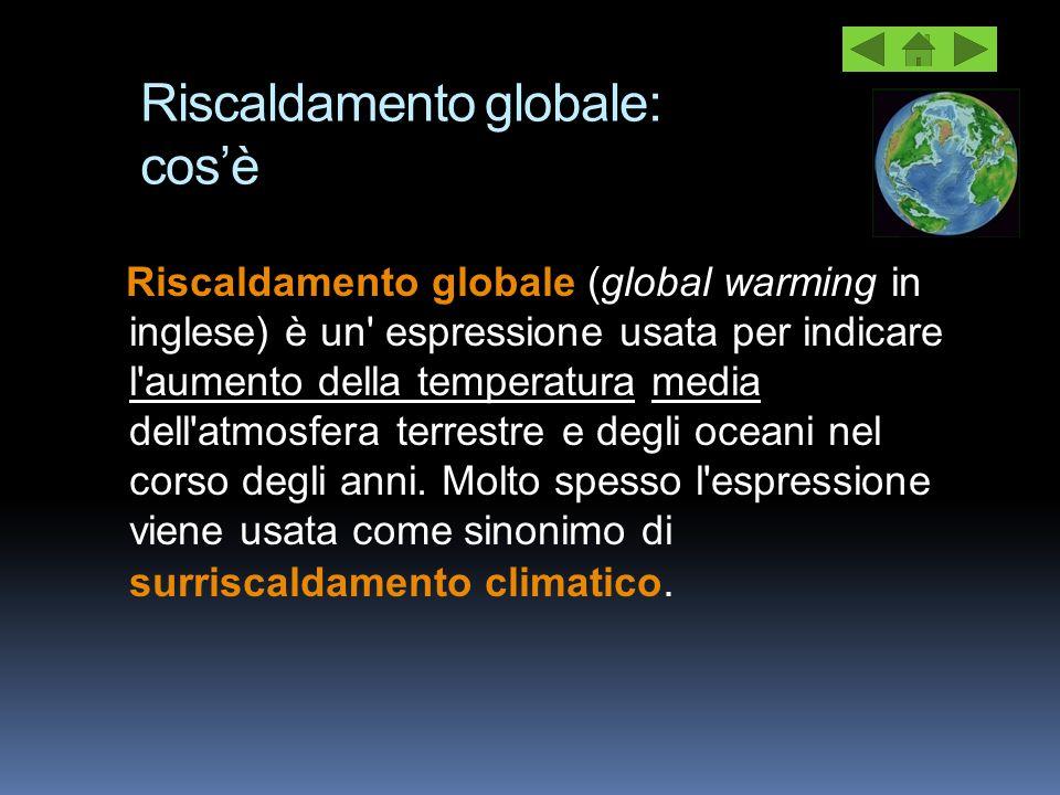 Riscaldamento globale: cos'è