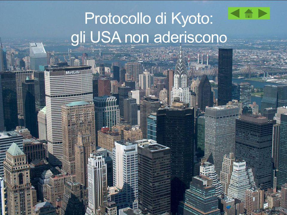 Protocollo di Kyoto: gli USA non aderiscono