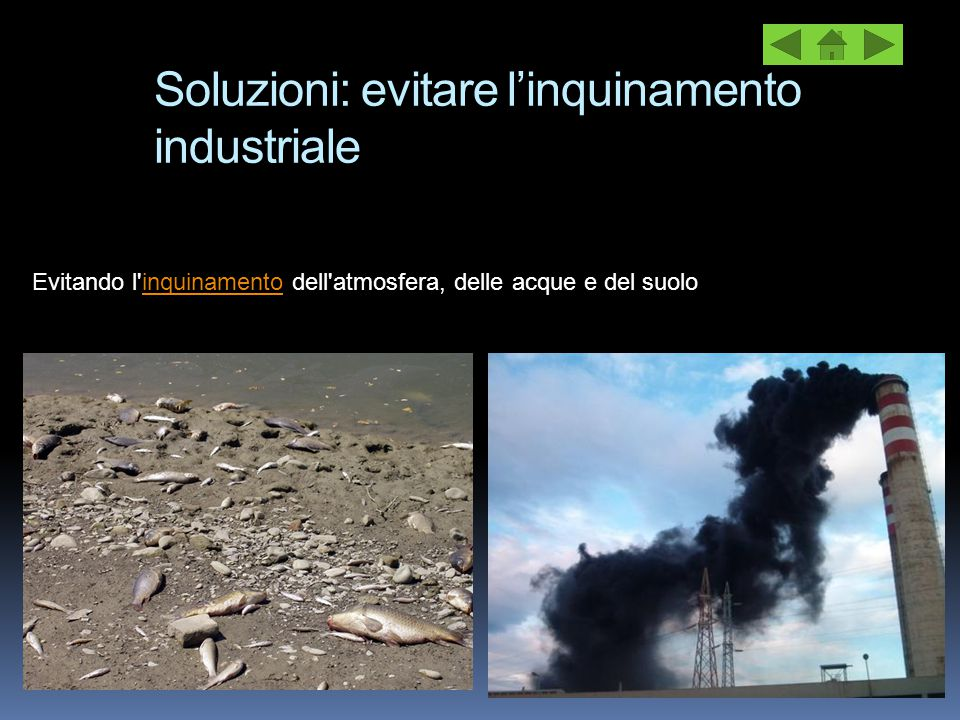Soluzioni: evitare l'inquinamento industriale