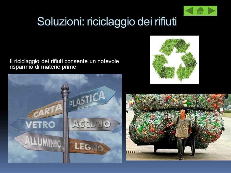 Soluzioni: riciclaggio dei rifiuti