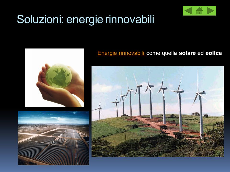 Soluzioni: energie rinnovabili