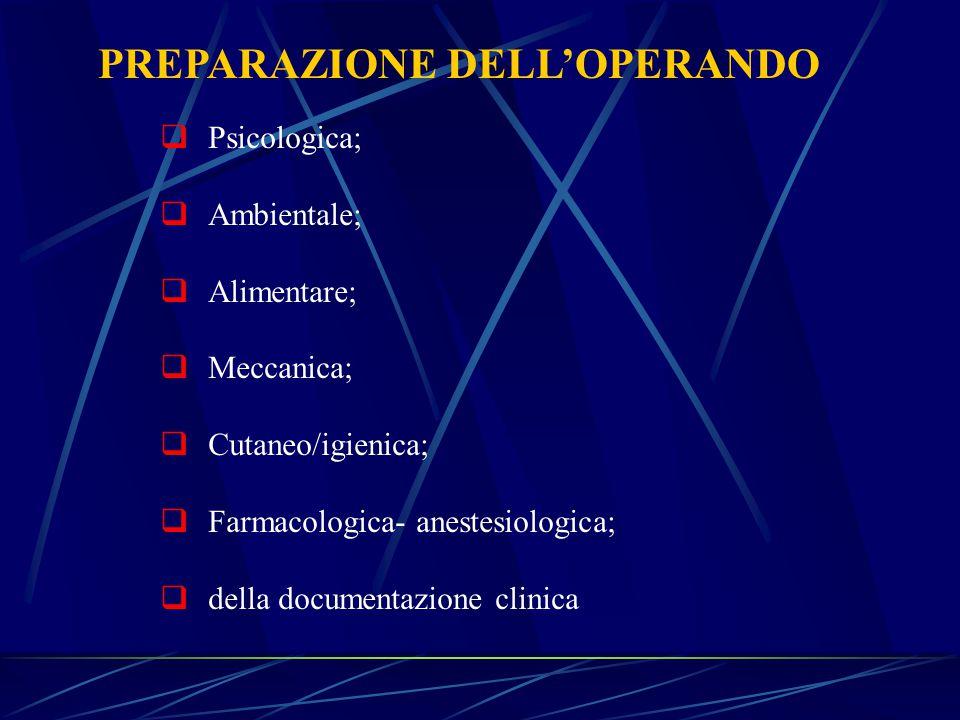 PREPARAZIONE DELL'OPERANDO