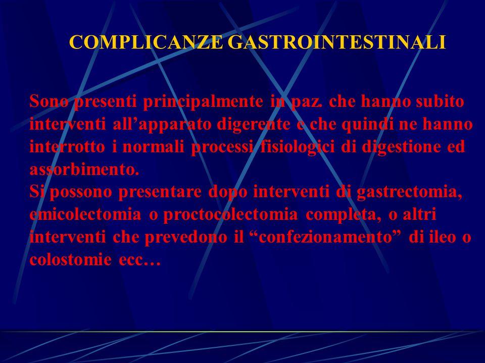 COMPLICANZE GASTROINTESTINALI