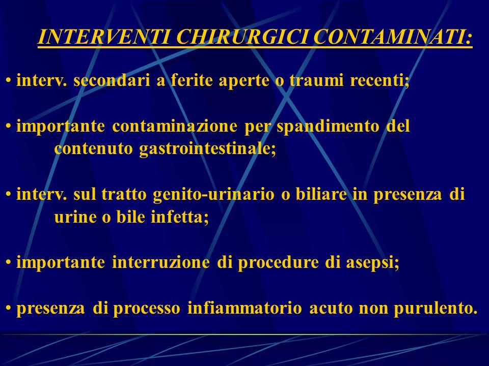 INTERVENTI CHIRURGICI CONTAMINATI: