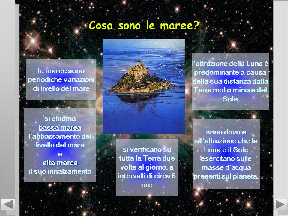 Cosa sono le maree l attrazione della Luna è predominante a causa della sua distanza dalla Terra molto minore del Sole.