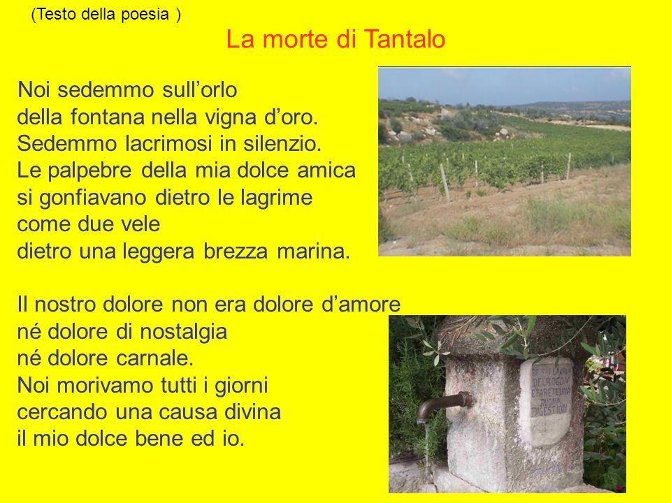 La morte di Tantalo della fontana nella vigna d'oro.