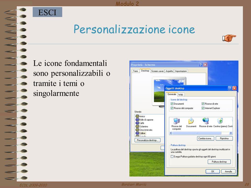 Personalizzazione icone