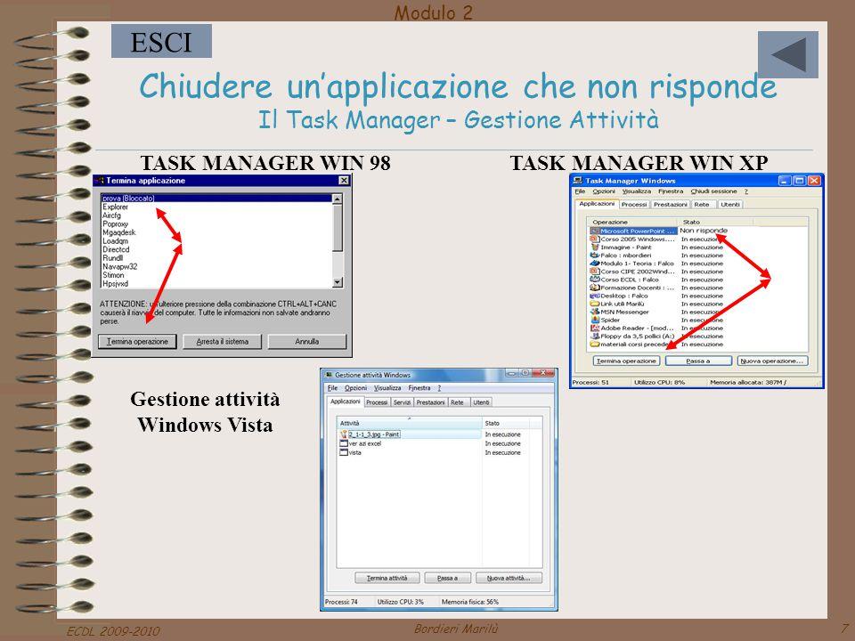 Gestione attività Windows Vista