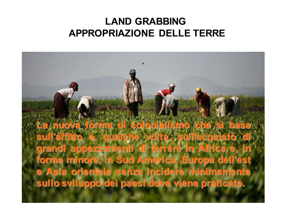 LAND GRABBING APPROPRIAZIONE DELLE TERRE
