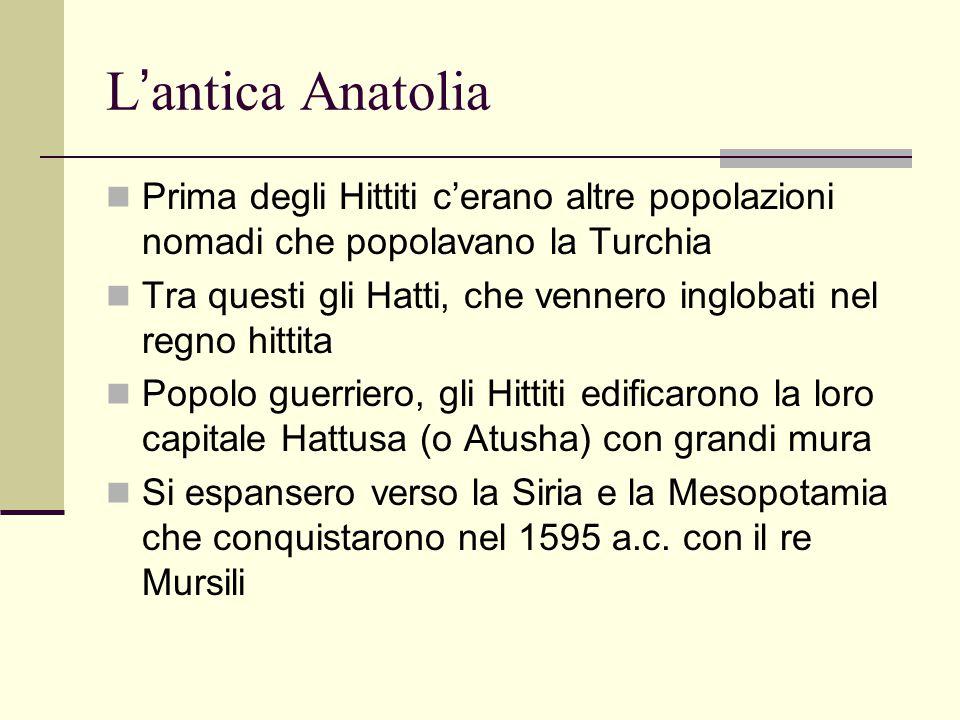 L'antica Anatolia Prima degli Hittiti c'erano altre popolazioni nomadi che popolavano la Turchia.