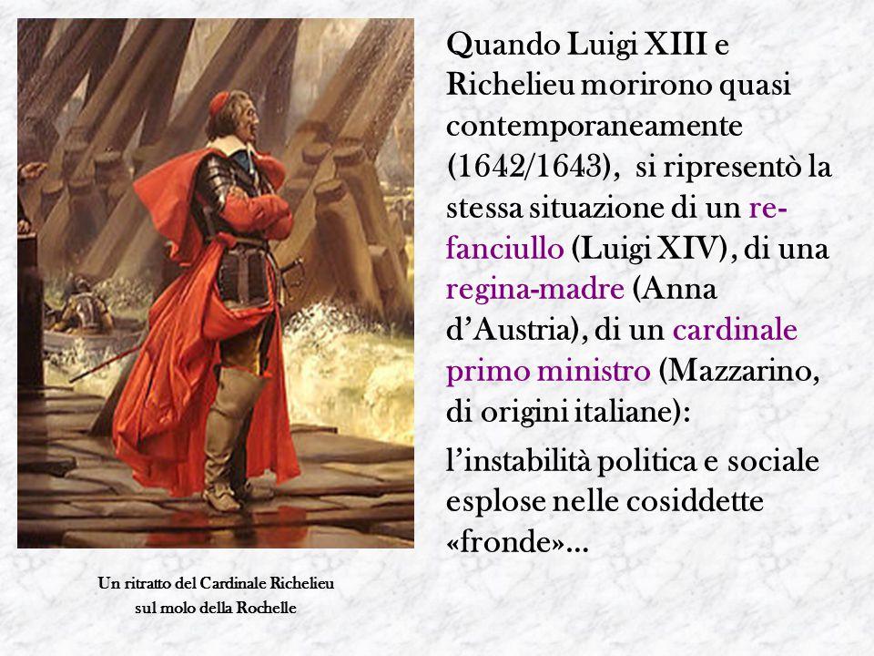 Un ritratto del Cardinale Richelieu sul molo della Rochelle