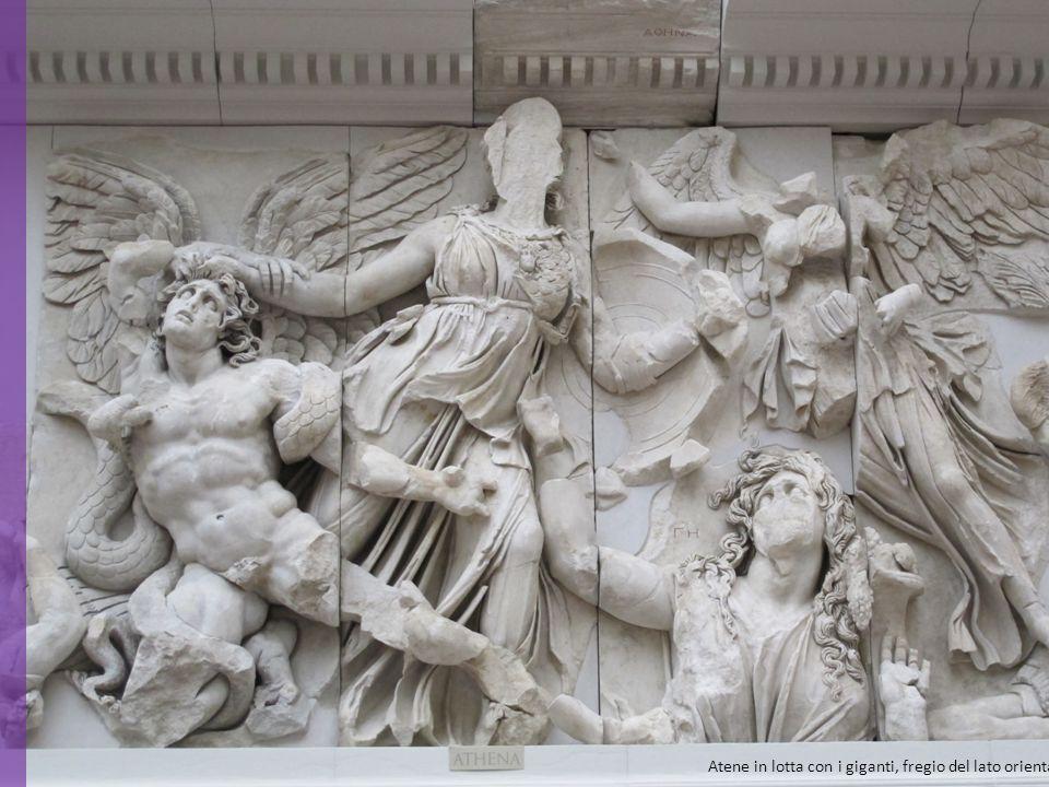 Atene in lotta con i giganti, fregio del lato orientale