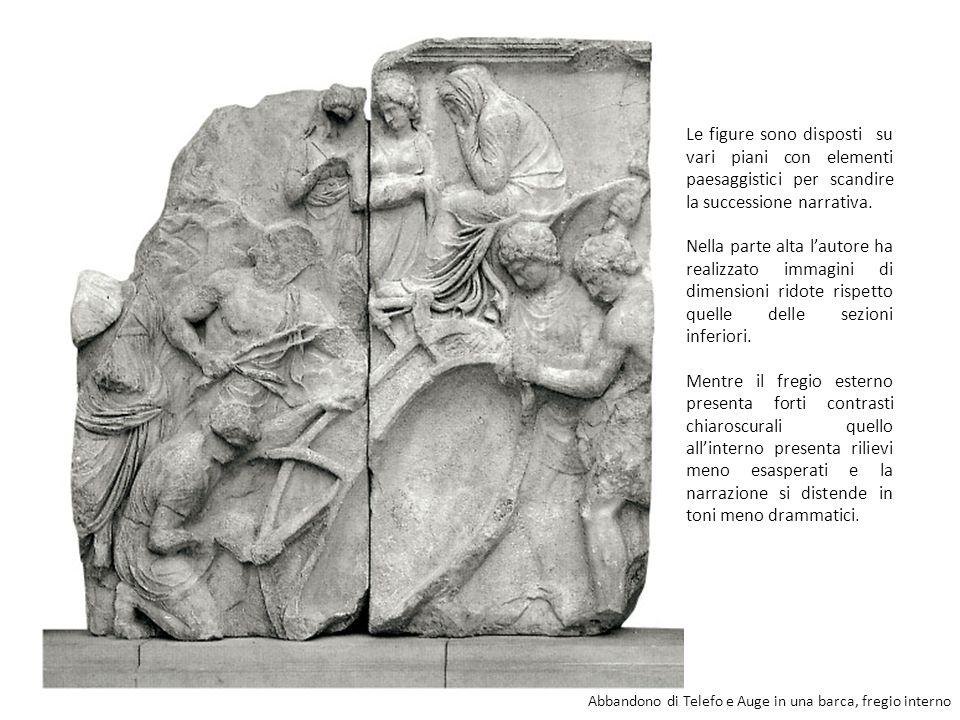 Le figure sono disposti su vari piani con elementi paesaggistici per scandire la successione narrativa.