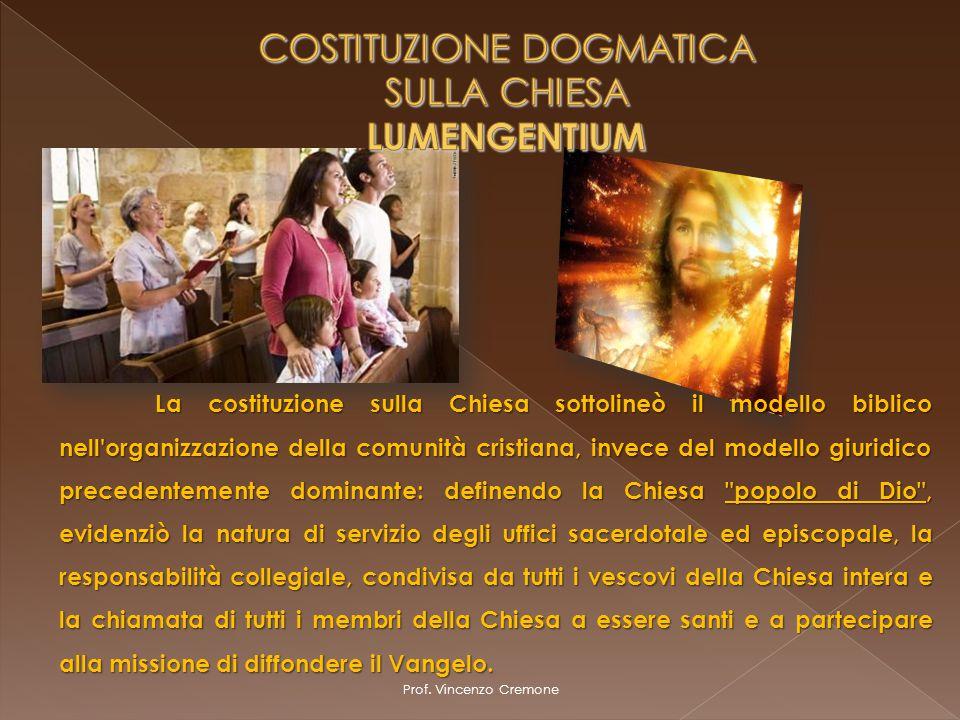 COSTITUZIONE DOGMATICA