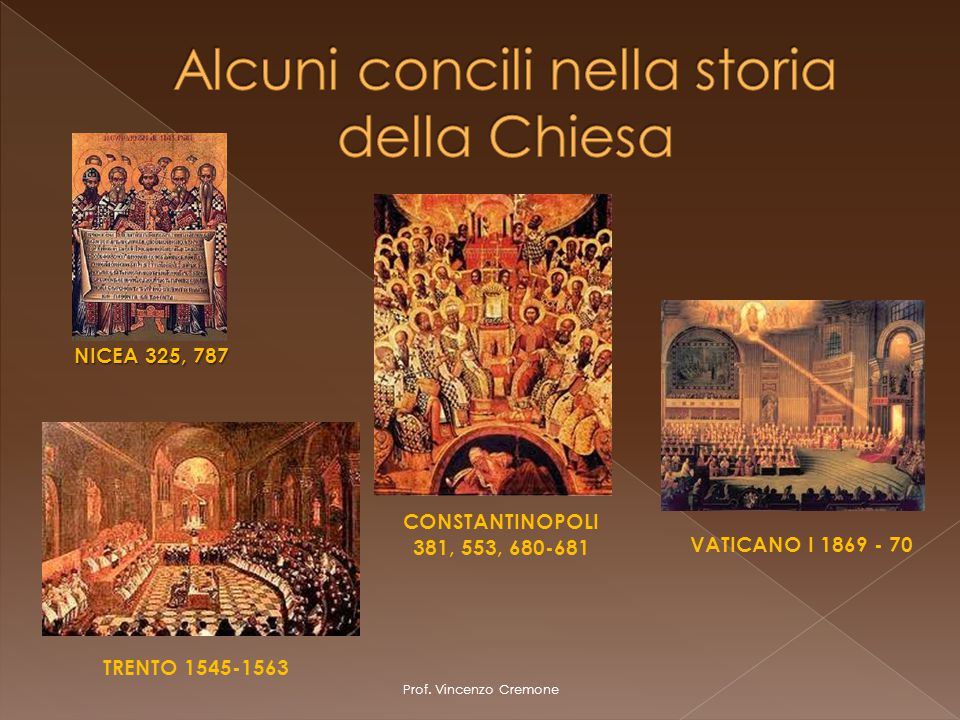 Alcuni concili nella storia della Chiesa