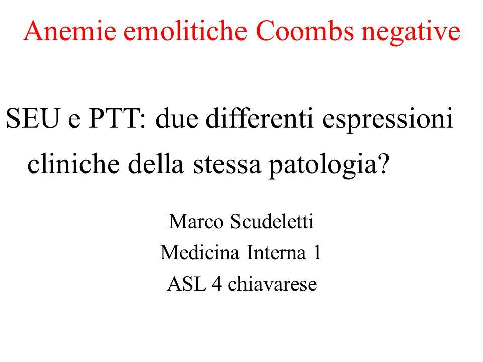 Anemie emolitiche Coombs negative