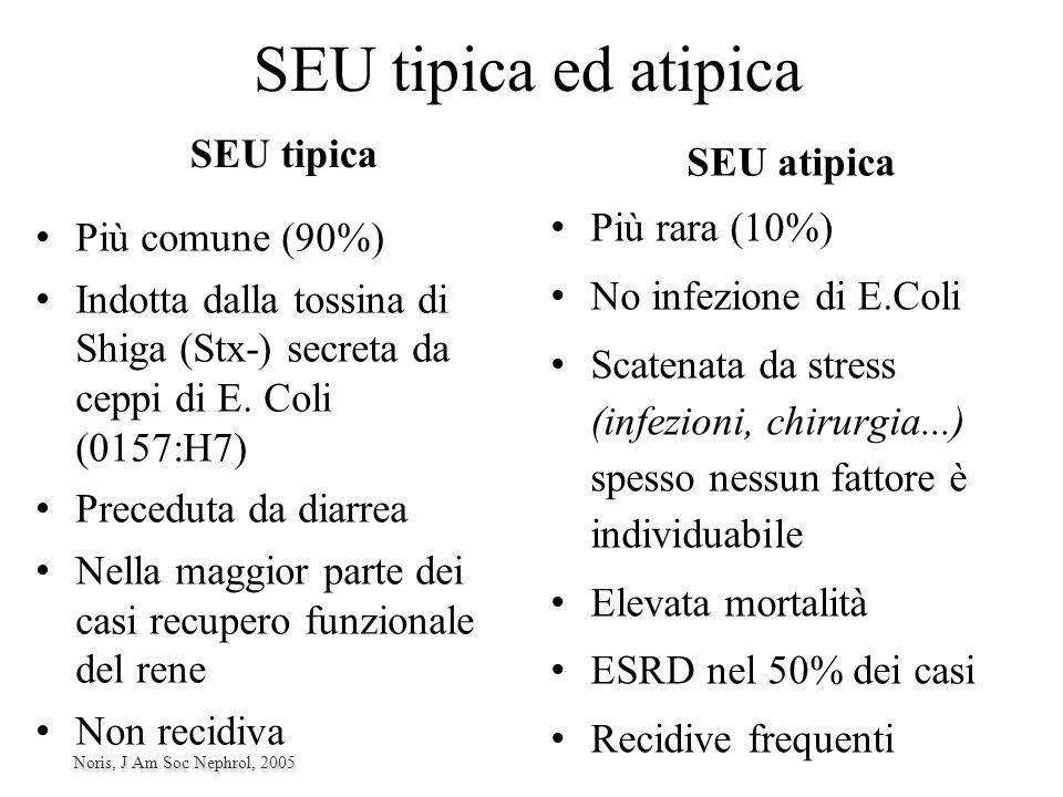 SEU tipica ed atipica SEU tipica SEU atipica Più rara (10%)