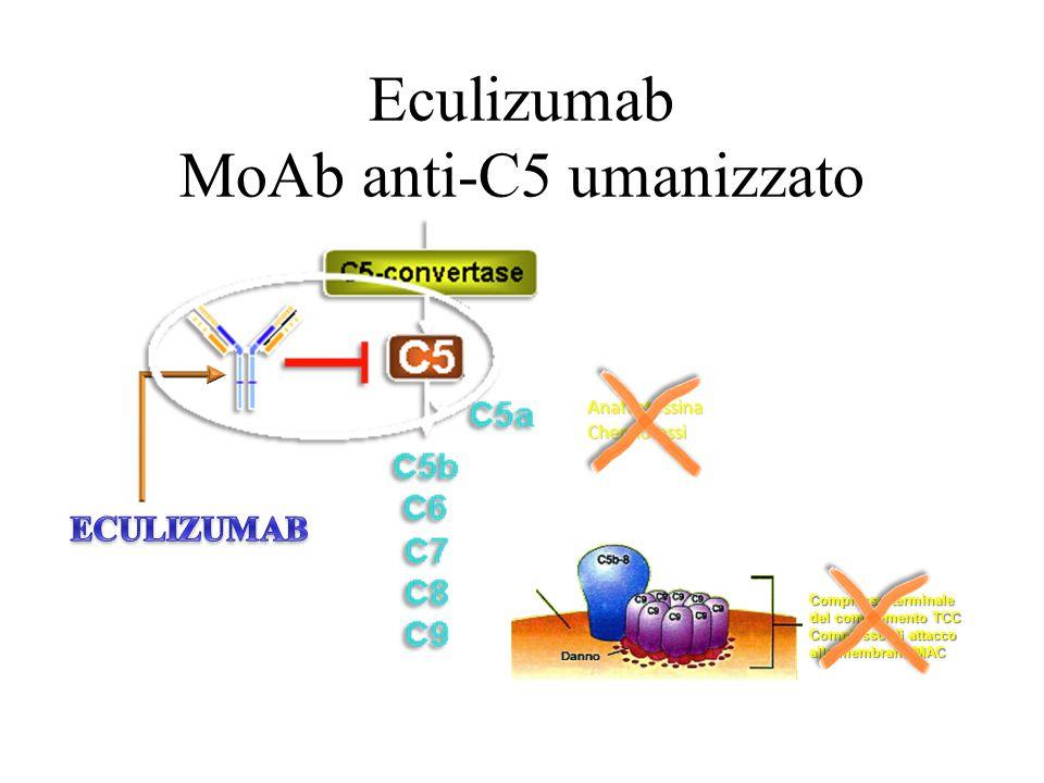 Eculizumab MoAb anti-C5 umanizzato